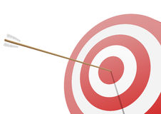 Hitting the target Royalty Free Stock Photos