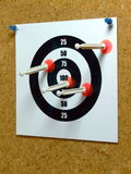 Hitting the Target Royalty Free Stock Image