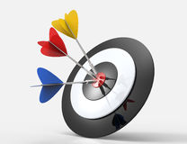 Hitting target. 3d concept design  on white background Royalty Free Stock Photography