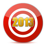 Hitting target - New Year 2013 Royalty Free Stock Photos