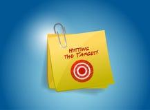 Hitting the target post illustration design Stock Photography