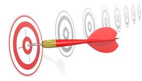 Hitting Target. Royalty Free Stock Image