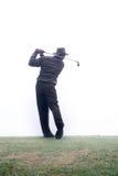 Hitting th ball. Driving the golf ball royalty free stock photo