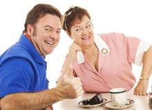Hitting on the Waitress Stock Image
