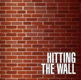 Hitting the wall concept illustration Stock Photos