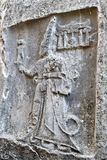 Hittire-Felsenentlastung, die bei Hattusa schnitzt stockfoto