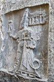 Hittire skały reliefowy cyzelowanie przy Hattusa zdjęcie stock