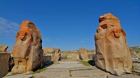 Hittitestad van Alacahoyuk in Turkije royalty-vrije stock afbeeldingen