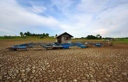 Hitze, ausgetrockneter Boden der Dürre Stockbilder