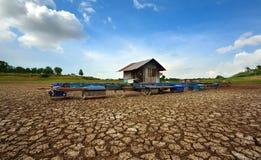 Hitze, ausgetrockneter Boden der Dürre Lizenzfreies Stockbild