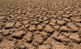 Hitze, ausgetrockneter Boden der Dürre Stockbild