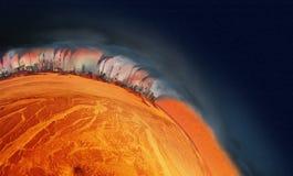 Hitzeplanet lizenzfreies stockfoto