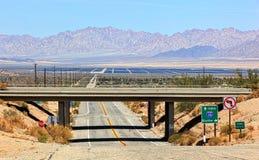 Hitzewellen weg von der Wüstenlandschaft Lizenzfreie Stockfotografie