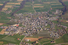 Hitzkirch Canton Lucerne Luzern Switzerland aerial view photogra Stock Images