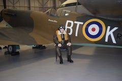 Hitzkopfflugzeug am Cosford-Museum Lizenzfreie Stockfotos