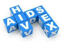 HIV、艾滋病和性 免版税库存照片