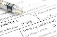 HIV测试形式 免版税图库摄影