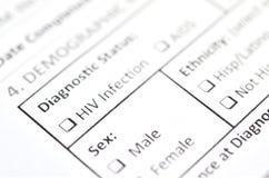 HIV测试形式 图库摄影