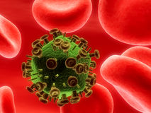 HIV病毒 免版税库存照片