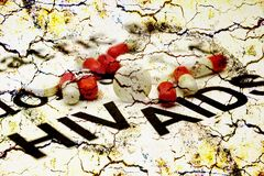 HIV援助 库存图片