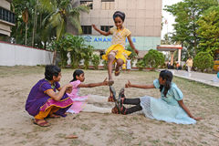 HIV Affected Children. A group of HIV affected children playing at the residential center.nA Kolkata based NGO has developed a complete network of services Stock Images