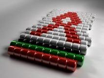 HIV AIDS Awareness Beads. 3D Illustration of HIV AIDS Awareness beads Stock Image