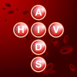 HIV AIDS Blood Cells Stock Photography