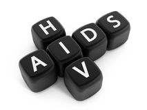 HIV and AIDS crossword puzzle Royalty Free Stock Images