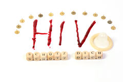 HIV AIDS diagnosis Stock Image