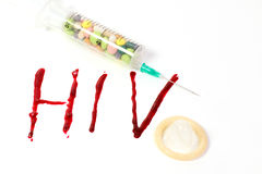 HIV AIDS diagnosis Stock Photos
