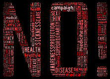 HIV AIDS info-text graphic and arrangement Stock Photography