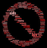 HIV AIDS info-text graphics Royalty Free Stock Images