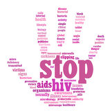 HIV AIDS info-text graphics Stock Image