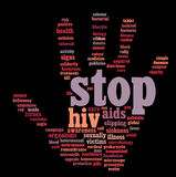HIV AIDS info-text graphics Royalty Free Stock Photography