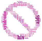 HIV AIDS info-text graphics and arrangement Stock Photos