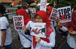 HIV AIDS prevention campaign Stock Photo