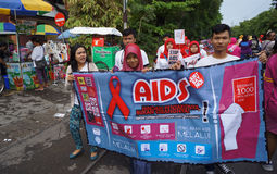 HIV AIDS prevention campaign Royalty Free Stock Photos
