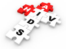 HIV and AIDS puzzle crossword Royalty Free Stock Photography