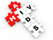 HIV and AIDS puzzle crossword Royalty Free Stock Image