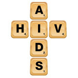 HIV AIDS Puzzle. An image of an AIDS HIV puzzle icon Stock Images