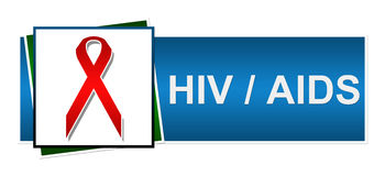 Hiv AIDS Red Blue Green Stock Photography