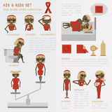 HIV and AIDS set Stock Images