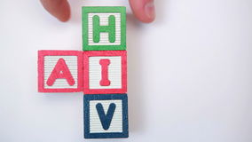 HIV and aids spelled out in blocks Royalty Free Stock Photos