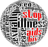 HIV AIDS term info-text Stock Photography