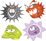 HIV and AIDS viruses Stock Image