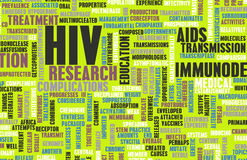 HIV. Awareness and Prevention Campaign Concept Art Stock Images
