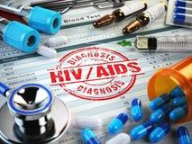 HIV BISTÅR diagnos stock illustrationer