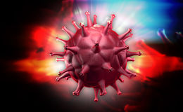 HIV Cell Royalty Free Stock Photography
