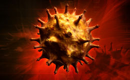 HIV Cell Royalty Free Stock Image