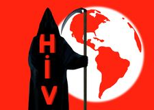 HIV global concept. Stock Photography